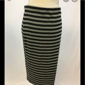 Vince Camuto striped midi skirt